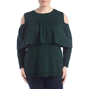 NWT cold shoulder long sleeve top
